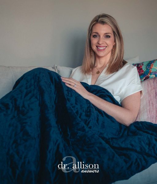 Calming Blanket Review: Are Weighted Blankets Worth It? via Dr. Allison Answers